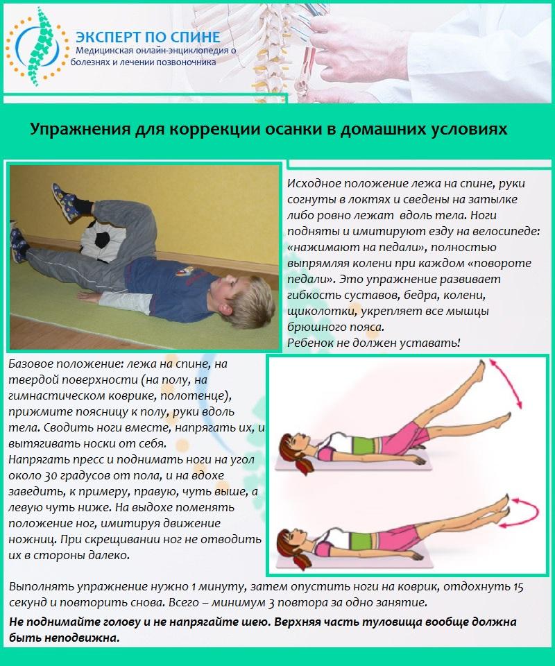 Упражнения для коррекции осанки в домашних условиях