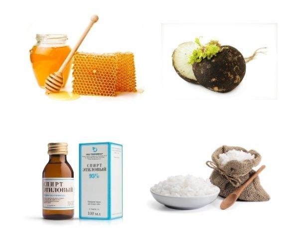 Ингредиенты для комплексного лечения вдовьего горба