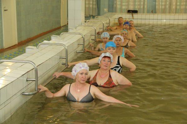Лечебная гимнастика в бассейне с морской водой