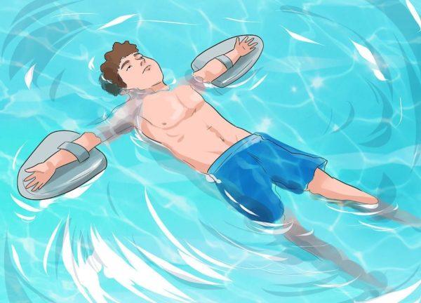Попробуйте использовать устройство для плавания