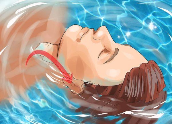 Ваши уши должны находиться в воде