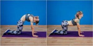 3. Вытяжение спинных мышц при выгибании спины дугой