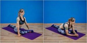 6. Вытяжка мышцы грушеобразной формы, упражнение «Голубь»