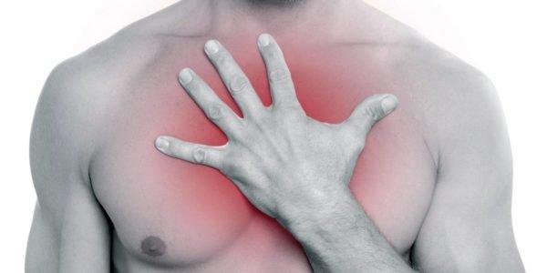 Боль в груди при хондрозе
