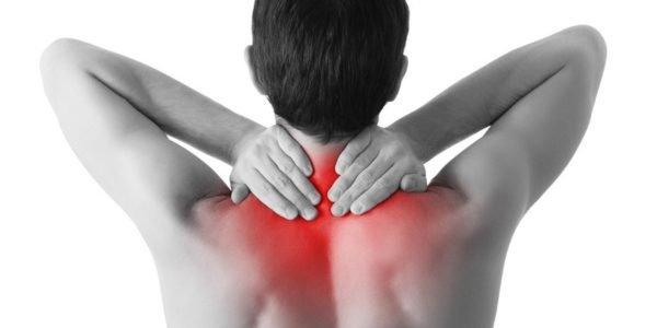 Болезненные ощущения в верхней части спины, плечевом поясе