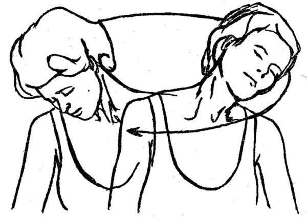 Для шейного отдела полезно делать вращение головой