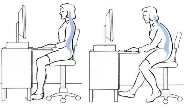 Как сидеть за компьютером