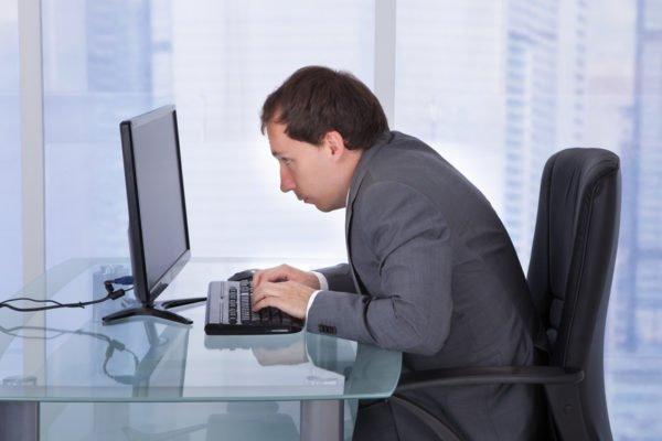 Людям, работающим за компьютером, нужно выполнять упражнения дважды в день