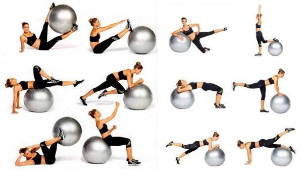 Мяч для фитбола представляет собой гимнастический ортопедический мяч диаметром от 45 до 95 см в зависимости от роста