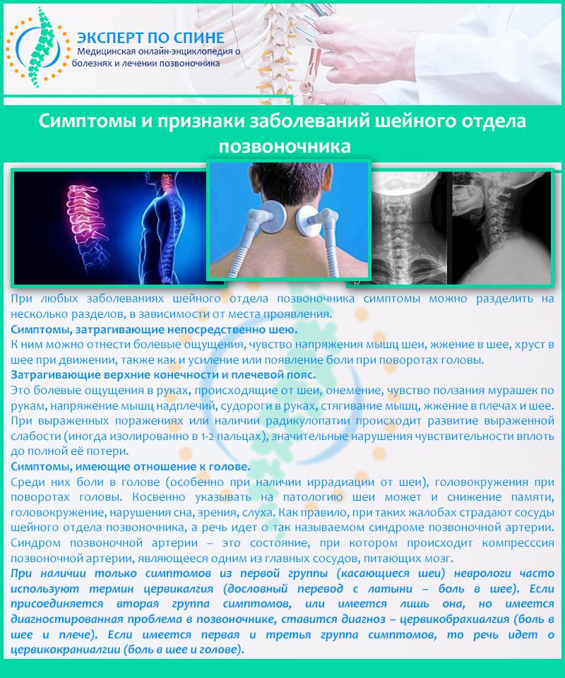 Сопутствующие заболевания шейного отдела позвоночника