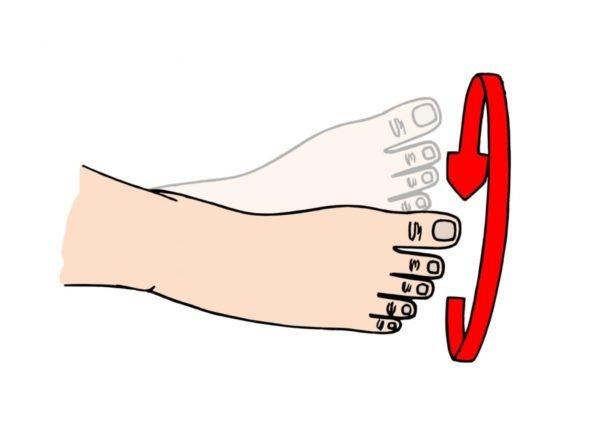 Упражнение для стоп ног