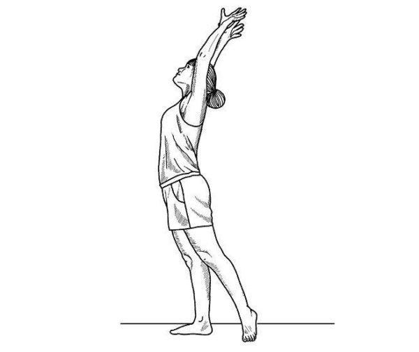 Упражнение Цапля (облегченный вариант)