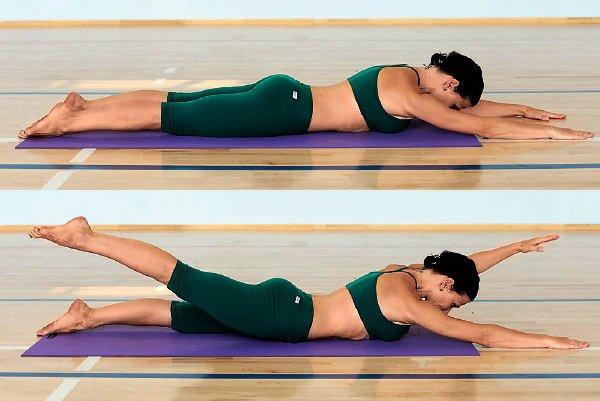 Как выполняются упражнения для поясницы?