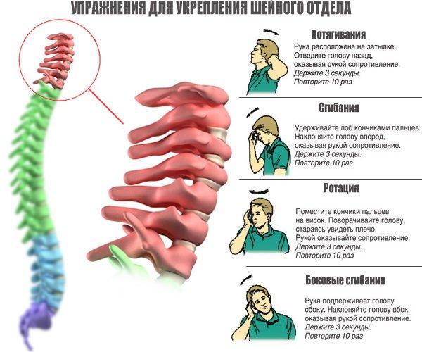 Упражнения для укрепления шейного отдела