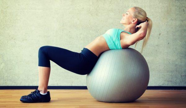 Упражнения с гимнастическим мячом очень полезны