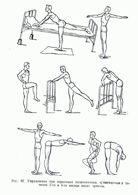 Упражнения, выполняемые в 3-4 мес. после травмы