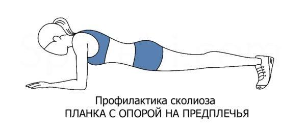 Упражнение №5: Планка с опорой на предплечья