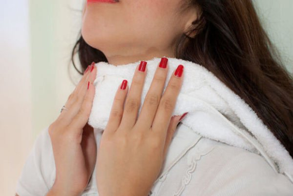 Водочный компресс на шею