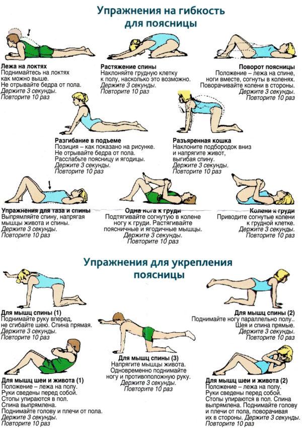 Безопасные упражнения для укрепления поясницы