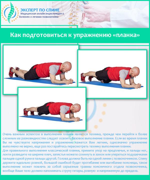 Как подготовиться к упражнению «планка»