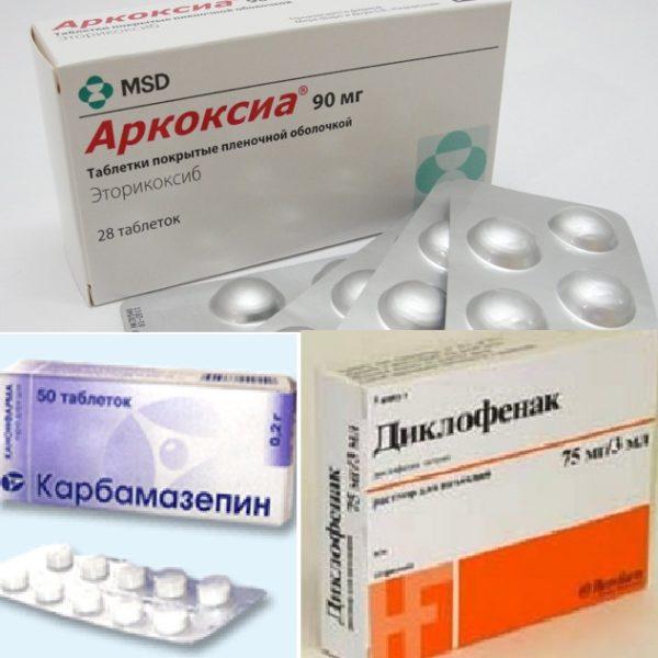 Некоторые препараты при остеохондрозе