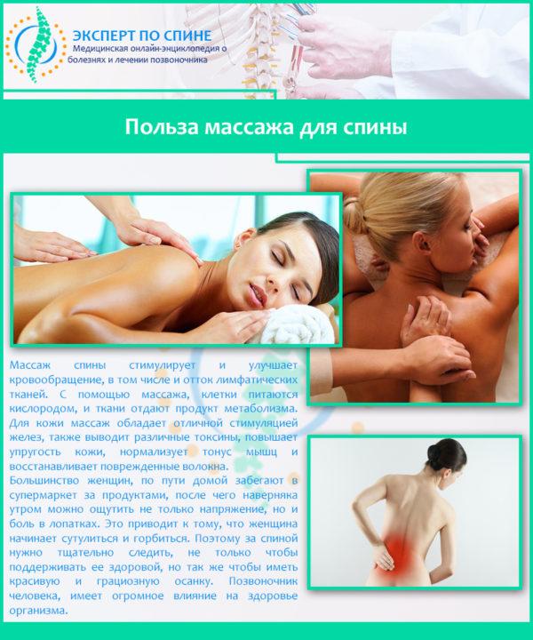 Польза массажа для спины