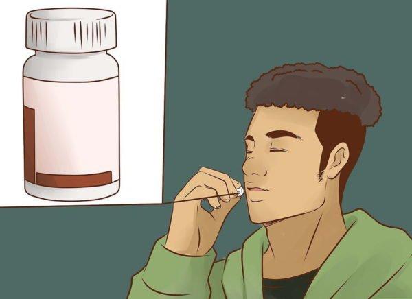 Прием обезболивающего средства