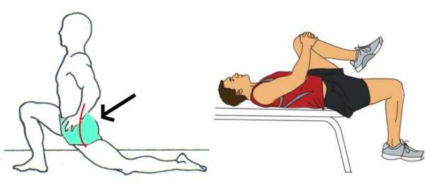Растяжка мышц подколенного сухожилия