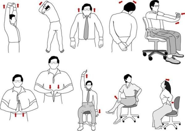 Разминка для шеи и спины, упражнения