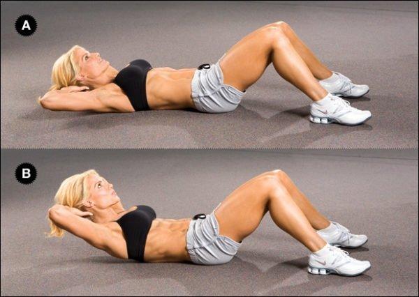 Упражнение для пресса и спины