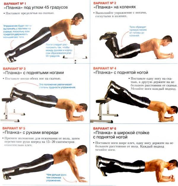 Варианты упражнения