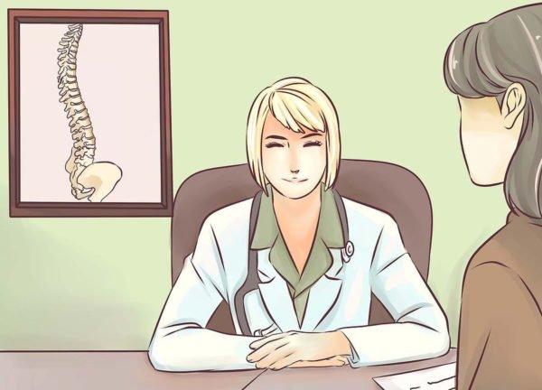 Вначале посетите врача