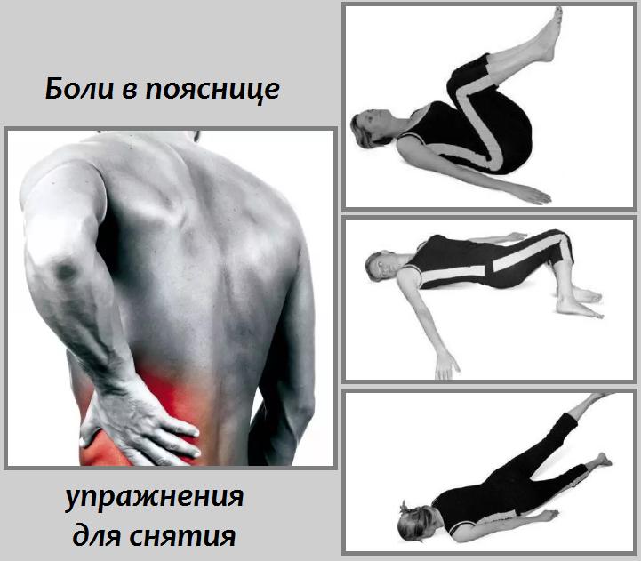 Упражнения для снятия боли в поясничной области