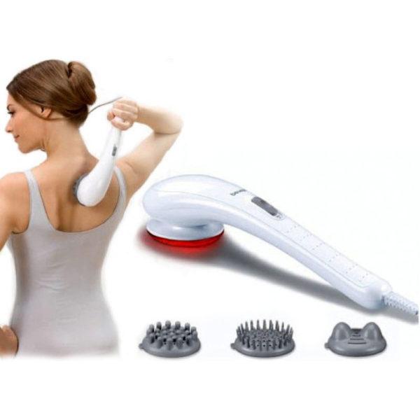 Используя разные насадки и режимы, можно проводить расслабляющий или лечебный массаж