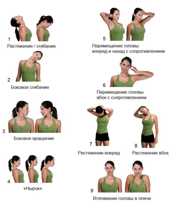 Комплекс упражнений при шейном спондилоартрозе