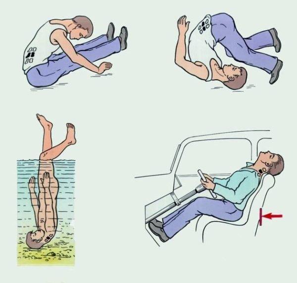 Наиболее распространенные причины травм позвоночника