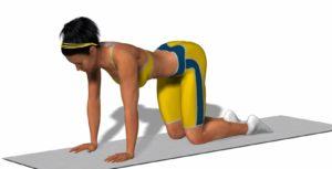 Основные упражнения – лежа и на четвереньках