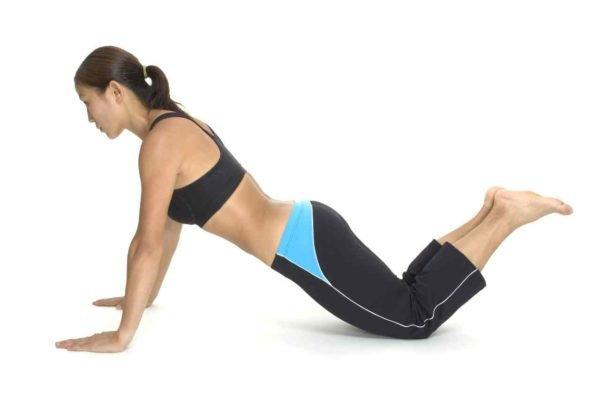Отжимание от пола с упором на колени