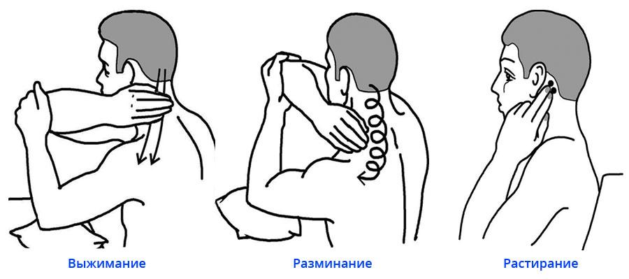 Как самостоятельно сделать массаж шеи при остеохондрозе
