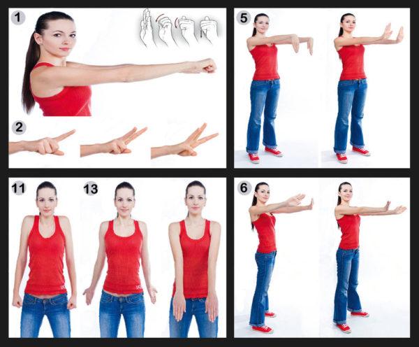 Суставная гимнастика норбекова в картинках