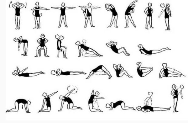 Важно, чтобы все упражнения выполнялись в спокойном темпе