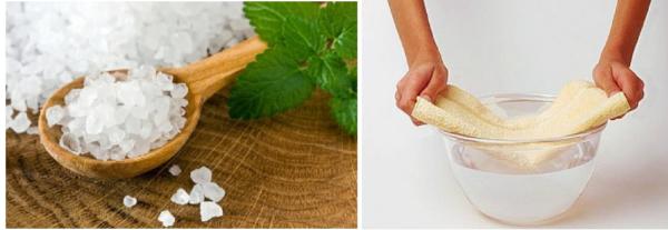 Компрессы из морской солью эффективно устраняют воспаление и снимают боль