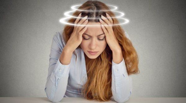 Головокружение - один из симптомов