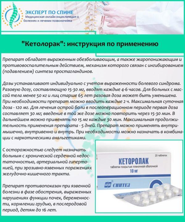 """""""Кетолорак"""": инструкция по применению"""