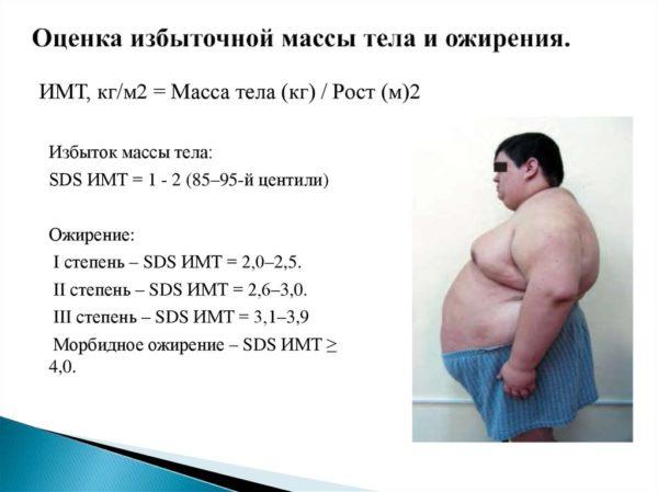 Оценка избыточной массы тела