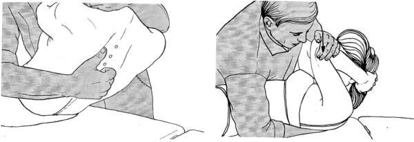 Толчковая мобилизация с симметричным давлением в положении лежа