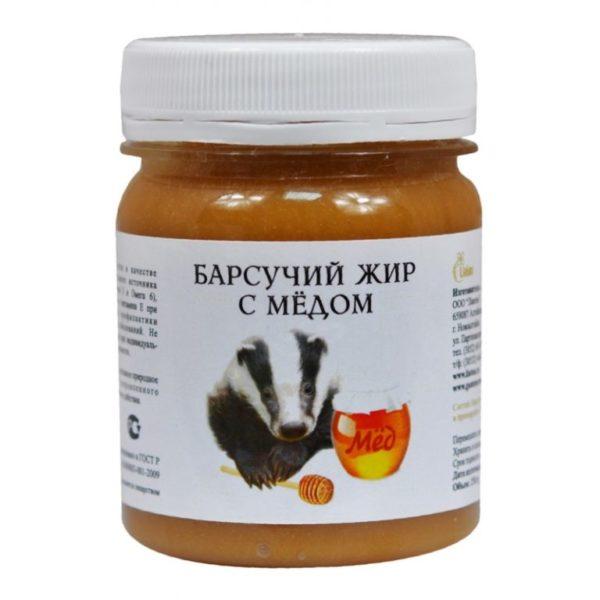 Барсучий жир с медом