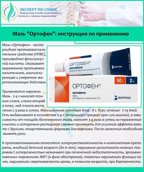 """Мазь """"Ортофен"""": инструкция по применению"""