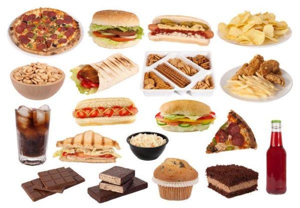 При грыже позвоночника нельзя употреблять продукты, которые провоцируют быстрый набор лишнего веса или нарушения метаболизма