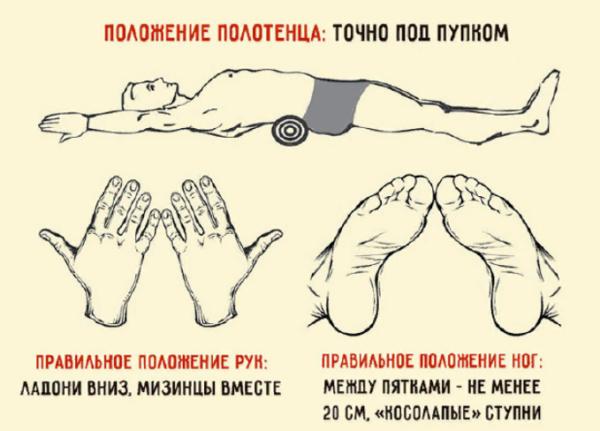 Упражнение для избавления от болей в спине